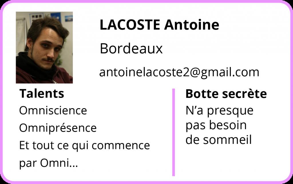 Contact Antoine