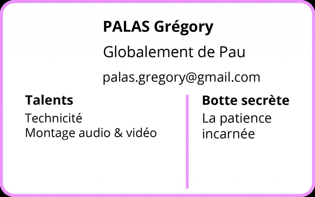 Contact Grégory